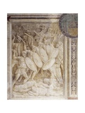 Battle of Tapae, Scene from Cycle on Trajan's Column, 1511-1513 Giclée-tryk af Baldassare Peruzzi