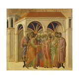 The Betrayal by Judas, Detail of Tile from Episodes from Christ's Passion and Resurrection Giclee Print by Duccio Di buoninsegna