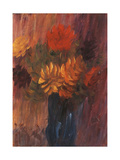 Large Still Life: Red and Yellow Dahlia; Grosses Stilleben: Rote Und Gelbe Dahlien, 1937 Giclee Print by Alexej Von Jawlensky