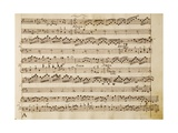 Music Score of Sonatas for Violin, Violone and Harpsichord, Op V, Allegro-Grave Giclee Print by Arcangelo Corelli