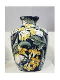 Vase with Floral Decorations, Symbolist Design Inspired by English Models Giclee Print by Galileo Chini