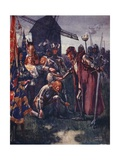 """The Prince to His Father Kneels Lowly: His Is the Battle - His Wholly!"" Giclee Print by Archibald Webb"