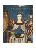 Allegory of Good Government, Magnanimity and Generosity Giclee Print by Ambrogio Lorenzetti