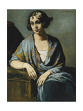 Portrait of a Young Woman Leaning on Her Elbow; Portrait De Jeune Fille Accoudee, 1928 Giclee Print by Emile Bernard
