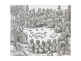 Meeting Between Turks and Arabs, Morocco, Engraving from Universal Cosmology Giclee Print by Andre Thevet