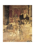 Effects of Good Government in the City, City Street Giclee Print by Ambrogio Lorenzetti