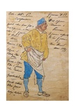 Costume Sketch for Role of Innkeeper in Premiere of Opera Manon Lescaut Giclee Print by Giacomo Puccini