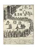 Procession of Dignitaries in the St Mark's Square in Venice, 1610 Giclee Print by Giacomo Franco
