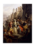 Mademoiselle De Montpensier Entering Orleans During Fronde Giclee Print by Alfred Johannot