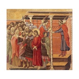 Pilate Washing His Hands, Detail from Episodes from Christ's Passion and Resurrection Giclee Print by Duccio Di buoninsegna