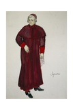 Costume Sketch by G Metelli for Role of Sexton in Opera Tosca Giclee Print by Giacomo Puccini
