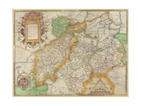 Map of Northampton and Adjacent Counties, from 'Atlas of England and Wales', 1576 Giclee Print by Christopher Saxton
