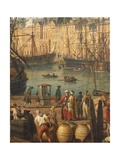 Turkish Merchants, Detail from Port of Marseille, 1754 Giclee Print by Claude-Joseph Vernet
