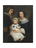 Self Portrait with Wife Catherine De Hemerlaer and Son Jan Erasmus Quellinus, 1635-36 Giclee Print by Erasmus Quellinus