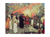 The Departure of John and Sebastian Cabot from Bristol on their First Voyage of Discovery in 1497 Giclee Print by Ernest Board