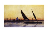 Trip on Nile by Felucca, from Empress Eugenie of France's Journey in Egypt Giclee Print by Charles Theodore Frere