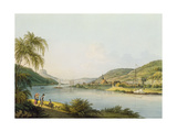 View of the Southern Part of Schandau on the Elbe in Saxony on the Border of Bohemia Giclee Print by Christian Gottlob Hammer