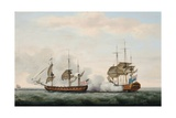 The East India Company's Ship Bridgewater Successfully Defending Her Cargo from an Attack Giclee Print by Francis Holman