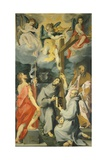 Altarpiece Depicting the Saints Baptist, Francis, Bernard and Paul in Ecstasy Giclee Print by Andrea Lilio