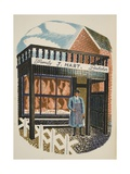 Family Butcher Giclee Print by Eric Ravilious