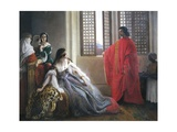 Caterina Cornaro Receives News of Deposition of Queen of Cyprus, 1842 Giclee Print by Francesco Hayez