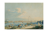 View of the Marble Palace and the North Side of the Peter and Paul Fortress, St. Petersburg Giclee Print by Christian Gottlob Hammer