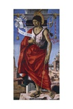 St John Baptist, Central Panel of Grifoni Polyptych Giclee Print by Francesco del Cossa
