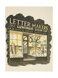 Sign Maker Giclee Print by Eric Ravilious