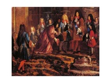 Louis XIV Receiving Submission, Doge of Genoa in May 1685 Giclee Print by Claude-Guy Halle