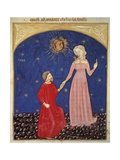Beatrice Leading Dante, Paradise Scene from Divine Comedy Giclee Print by Dante Alighieri