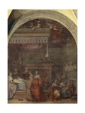 Italy, Florence, Cloister of Votes, Basilica of Most Holy Annunciation, Birth of Virgin, 1514 Giclee Print by Andrea del Sarto