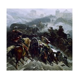 French Army Crossing Sierra De Guadarrama Spain December 1812 Giclee Print by Nicolas Antoine Taunay