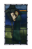 A Leaded Glass Panel Depicting a Full-Length Female Figure Playing a Stringed Instrument, 1891 Giclee Print by David Gauld