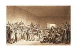 Napoleon Bonaparte Visiting Wounded at Battle of Jena Giclee Print by Benjamin Zix