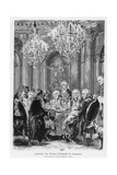 Voltaire Seated Next to King Frederick II at the Château De Sans Souci, Potsdam, Germany, 1878 Giclee Print by Adolph Friedrich Erdmann von Menzel