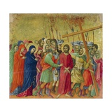 Way to Calvary, Detail of Tile from Episodes from Christ's Passion and Resurrection Giclee Print by Duccio Di buoninsegna