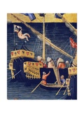 Boats, Detail from Wheat Miracle, Miracles of St. Nicholas of Bari, 1327-1332 Giclee Print by Ambrogio Lorenzetti
