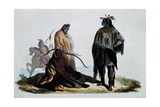 Crow Indians, Engraving from Dresses and Costumes of All People around World Giclee Print by Auguste Wahlen
