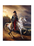 Portrait of Justo Machado Y Salcedo, Spanish Consul in Paris on Horseback, 1821 Giclee Print by Horace Vernet