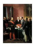 Napoleon III Hands over Decree Allowing Annexation of Suburban Communes of Paris Giclee Print by Adolphe Yvon