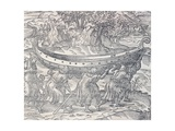 Laplanders Carrying their Boats from One Place to Another, Engraving from Universal Cosmology Giclee Print by Andre Thevet