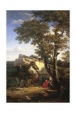 Landscape with St Sebastian Cured by the Holy Women, 1851 Giclee Print by Gabriele Smargiassi
