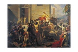 Emperor Frederick Barbarossa at Siege of Alexandria, 1174-1175 Giclee Print by Carlo Arienti