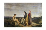 Dante and Virgil Meet Sordello, Episode from Divine Comedy Giclee Print by Dante Alighieri