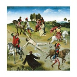 Martyrdom of St Hippolytus, Central Panel of St Hippolytus Triptych, 1470-1475 Giclee Print by Dieric Bouts the Elder