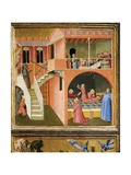 Miracle of St. Nicholas Reviving Boy Posed by Demon Giclee Print by Ambrogio Lorenzetti
