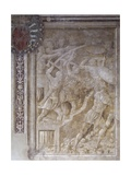 Breaking Down Walls of Sarmizegetusa, Scene from Cycle on Trajan's Column, 1511-1513 Giclée-tryk af Baldassare Peruzzi