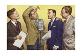 Hancock's Half Hour: Kenneth Williams, Tony Hancock, Bill Kerr and Sid James Giclee Print by Pat Nicolle