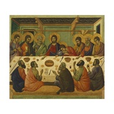 The Last Supper, Detail of Tile from Episodes from Christ's Passion and Resurrection Giclee Print by Duccio Di buoninsegna