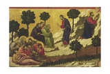 Prayer on the Mount of Olives, Detail of Tile from Episodes from Christ's Passion and Resurrection Giclee Print by Duccio Di buoninsegna